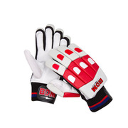 BDM Galaxy Batting Gloves White Red and Black Youth - sabkifitness.com