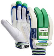 BDM Armstrong Batting Gloves White and Blue - sabkifitness.com